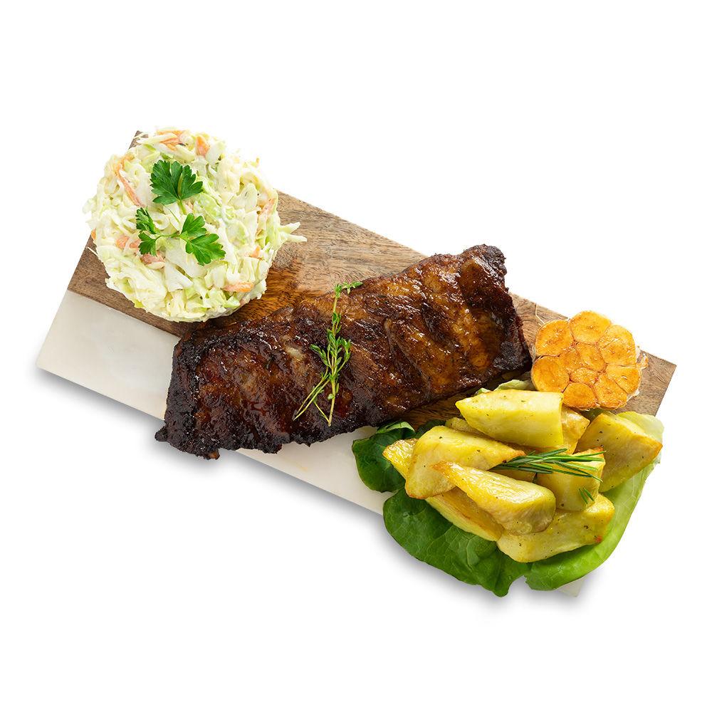 Coaste de porc cu cartofi wedges si muraturi 2